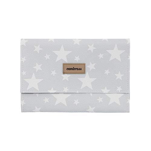 Cambrass Etoile - Funda para toallitas, 13 x 22 cm, color gris