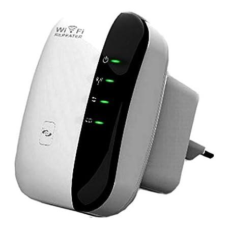 Fanlce Repetidor WiFi,Banda Dual Amplificador de WiFi Inteligente Sin Interrupción 300Mbps 2.4GHz Inalámbrico con WPS Button Puerto Fast Ethernet, ...