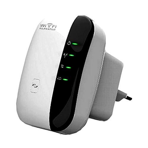Ripetitore Wifi, 300Mbps Wifi Extender e Access Point Migliora la Tua Copertura Wi-Fi porta Fast Ethernet, pulsante WPS, Ripetitore Segnale Wifi Casa Compatibile con Tutti i Modem in Fibra e ADSL