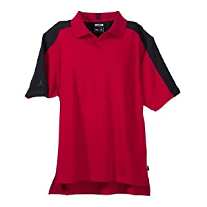 A43 - Small - University red/blk ClimaLite« Mens Colorblock Polo