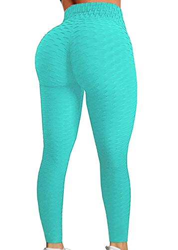 SEASUM Women's High Waist Yoga Pants Tummy Control Slimming Booty Leggings Workout Running Butt Lift Tights L