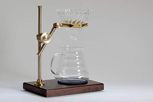 Pour-Over-Drip-Coffee-Stand-with-Filter-Cone-and-Glass-Carafe
