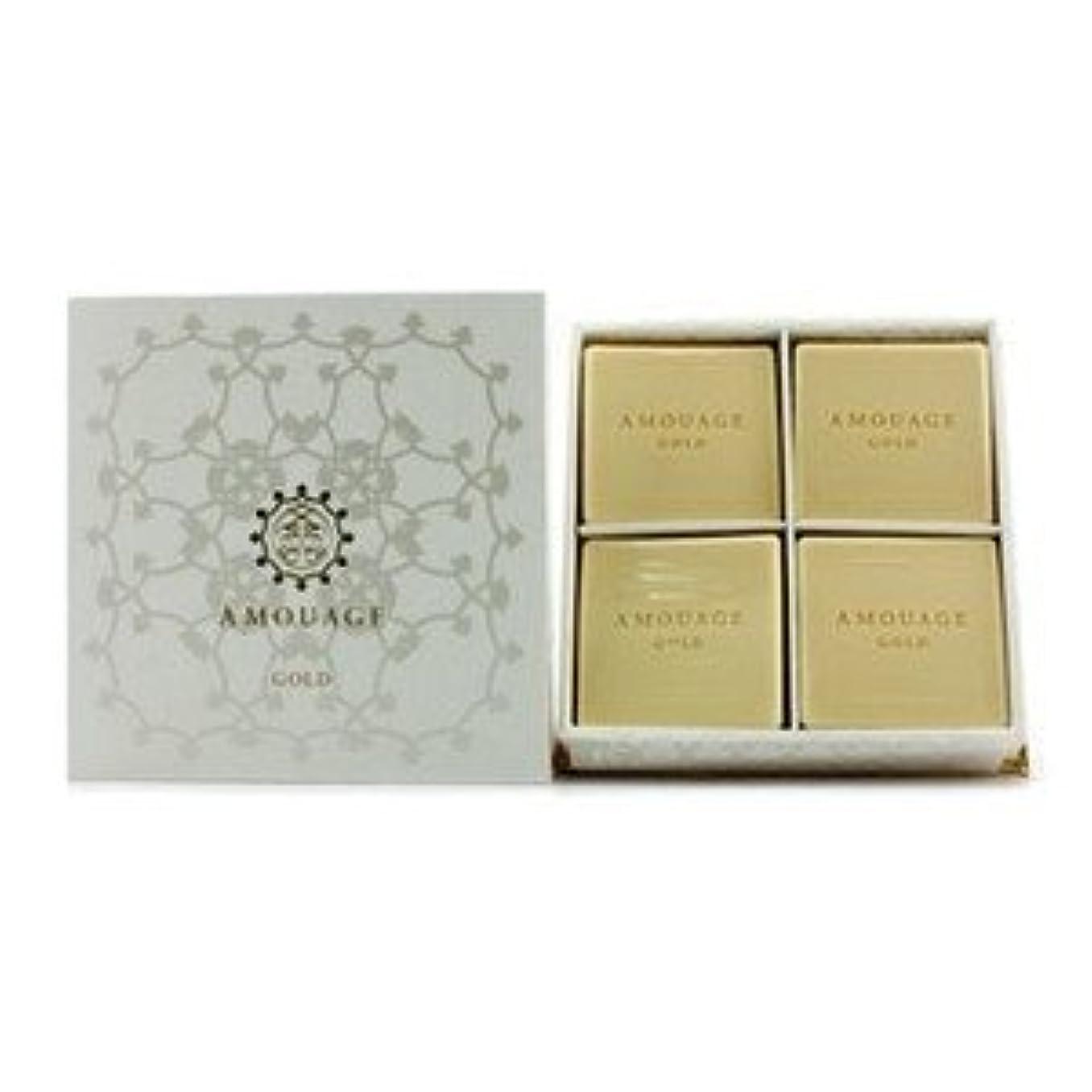 ルネッサンスダイヤモンド時計アムアージュ[Amouage] ゴールド パヒューム ソープ 4x50g/1.8oz [並行輸入品]