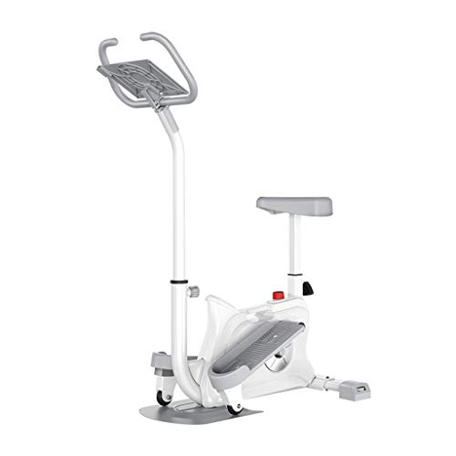 LZCYN Haushalt Swing-Stepper, Dual-Use Kleinen Stiller Swing Seite Stepper Steht, 120kg Lasttragende Indoor-Fitness-Trainingsgeräte, Verstellbaren Stuhl Fitness Stepper Mit Armlehnen