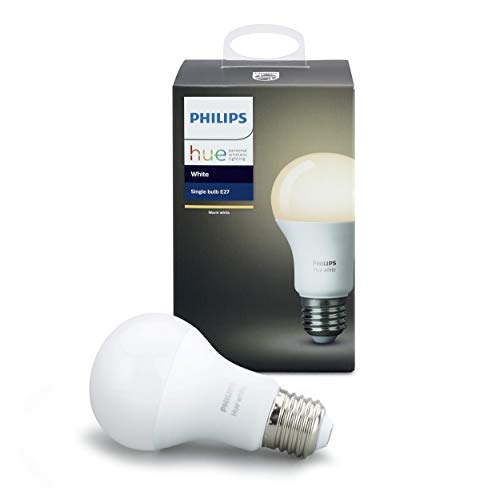 Philips Hue White E27 LED-lamp uitbreiding, dimbaar, warm wit licht, bestuurbaar via app, compatibel met Amazon Alexa (Echo, Echo Dot)