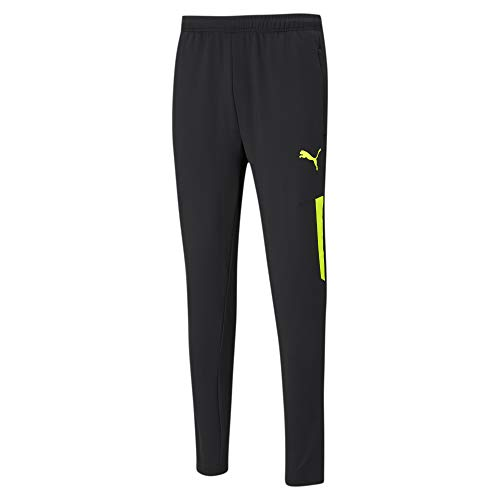 PUMA Herren, teamLIGA Training Pants Pro Jogginghose, Black-Yellow Alert, M