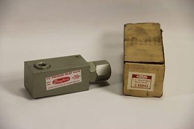"""Dayton 6X843 Hydraulic Pressure Relief Valve 1/2"""", 3000 PSI, 0-16 GPM by Dayton"""