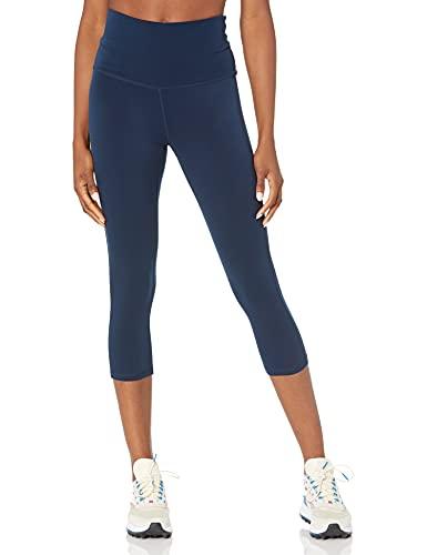Amazon Essentials Women's Performance High-Rise Capri Active Legging, Navy, Large
