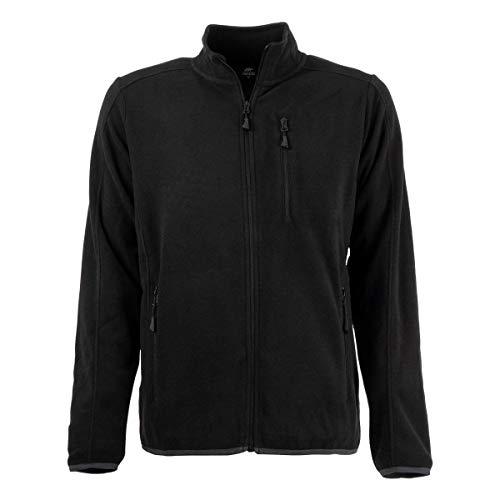 FORSBERG Haakon, Bequeme Fleecejacke, leicht, hochwertig und stylisch, Farbe:schwarz, Größe:L
