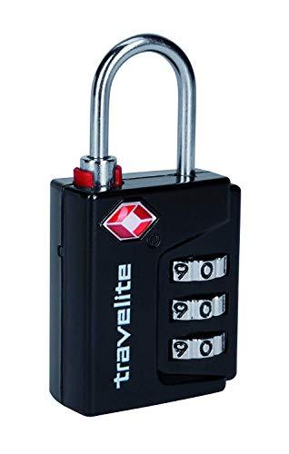 Travelite 26-01 travelie TSA Kombinationsschloß, schwarz