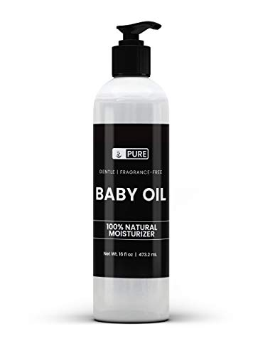 Pure & Natural Baby Oil (16 fl oz) Keep Your Baby's Skin Soft & Soothed, Perfect for Delicate Sensitive Skin, Scent-Free, Hypoallergenic & Paraben-Free