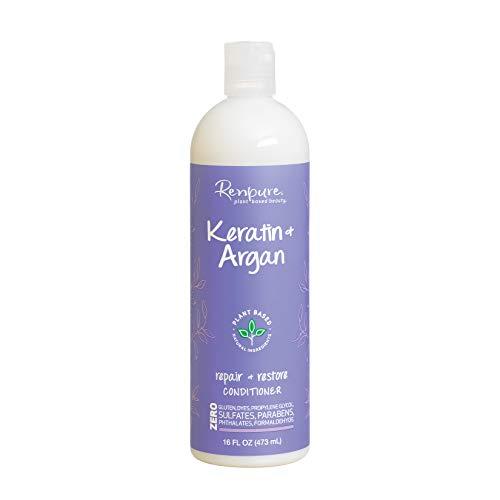 Renpure Plant-Based Beauty Keratin & Argan Repair + Restore Conditioner, 16 Fluid Ounce