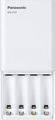Panasonic BQ-CC87ABBA eneloop Advanced Individual Battery Charger with Portable Charging Technology, White