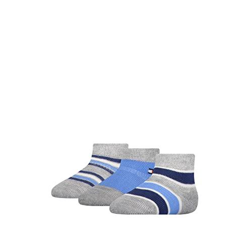 Tommy Hilfiger Unisex-Baby Newborn Stripe Gift Box Classic Sock, Blue Combo, 11/14