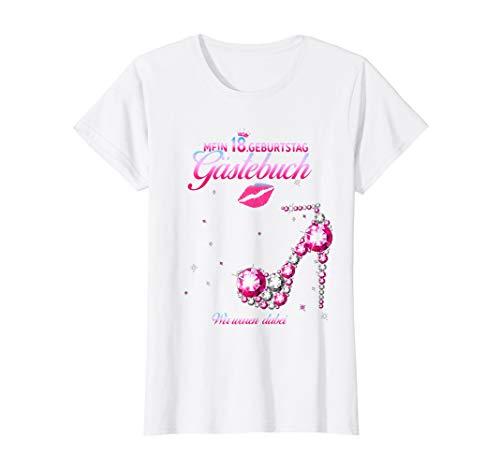 Damen 18. Geburtstag Gästebuch Mädchen 2002 Party Gästebuch T-Shirt