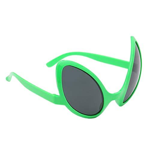 yotijar Gafas con Forma de Ojos Aliengenas Gafas de Fiesta Gafas Novedosas Disfraz - Marco verde Lente gris, Individual