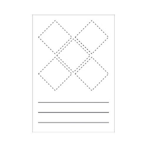 Stickers blanco, om zelf te beschrijven Afdichting van het opschrift door beschermend laminaat Veilige stoffen sticker Afmetingen: 8,6 x 12,4 cm Folie