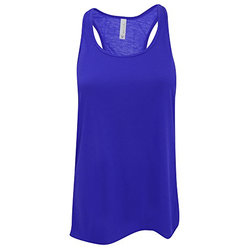 Bella + Canvas- Camiseta de Tirantes Flowy para Mujer (Grande (L)) (Azul...