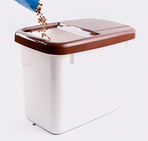 WTTTTW Frischer trockener Plastikvorratsbehälter der Nahrung für Haustiere, mit Klappdeckel-Ausgusstülle für Nahrung für Haustiere-Vogelfutter,M