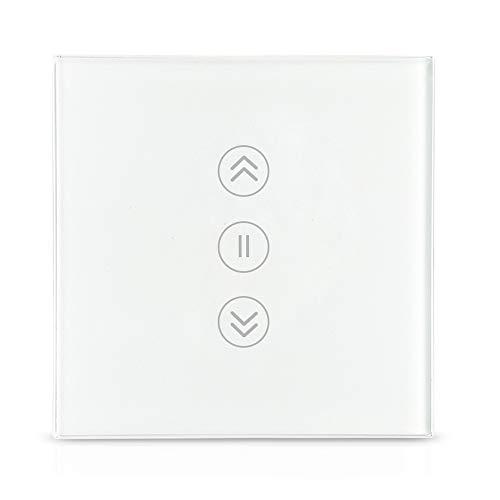 zemismart Interrupteur mural Wi-Fi,pour volets roulants fonctionnant via application ou commande vocale (Alexa,Siri)110V-240V,Neutre nécessaire