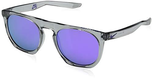 Nike EV1045-015 Flat spot M Frame Grey with Ml Violet Flash Lens Sunglasses, Wolf Grey