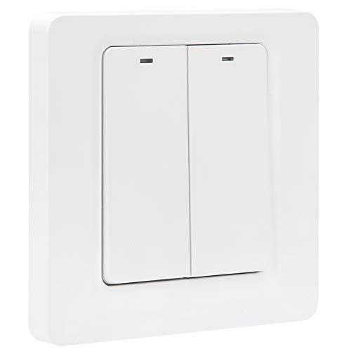 Interruptor de botón WiFi, interruptor inteligente blanco, baño de ABS flexible para el balcón del dormitorio de la sala de estar