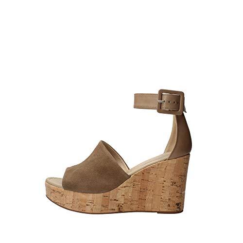 Sandalo da Donna NeroGiardini in Pelle Castoro E012411D. Scarpa dal Design Raffinato. Collezione Primavera Estate 2020. (Numeric_40)