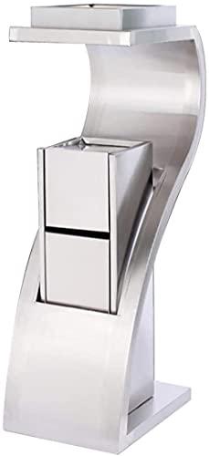 Cubo de basura comercial contenedor de acero inoxidable para hotel, pasillo de hotel, cenicero de acero inoxidable, panel empotrado para exteriores e interiores