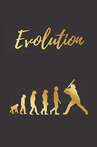 EVOLUTION: BLANK LINED NOTEBOOK | Notepad, Journal, Personal Diary | GIFTS FOR BASEBALL LOVERS.