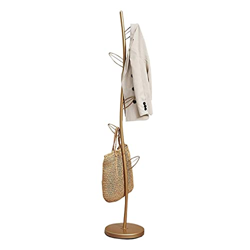 Perchero Coat Rack Hogar Suelo de pie Soporte Moderno Hierro forjado Árbol En forma de árbol Un solo Polo Cuadrado Dormitorio Sala de estar Corredor Perchador Estante organizador de ropa independiente