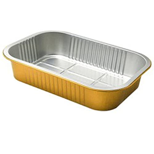 SCHSP Bandejas de Aluminio Desechables Parrilla al Aire Libre de Bandejas Recipientes Portátiles para Alimentos 10 Piezas 1380ml Hornear Asar Parrilla y Cocinar