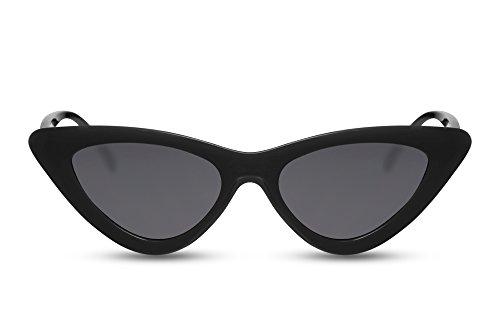 Cheapass Occhiali da Sole Cat Eye Moda Design Montatura Nera Occhiali Neri 100% UV-400 Protetti Donne Donna