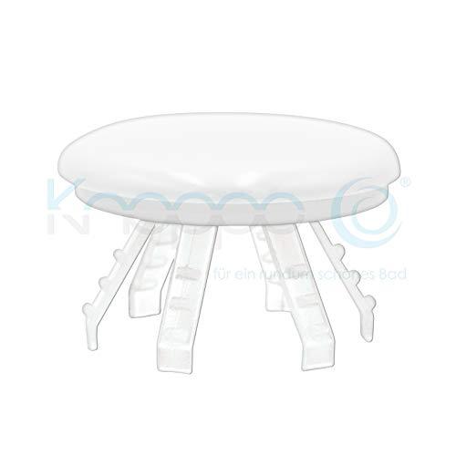 KNOPPO® Waschbecken Überlauf Abdeckung, Clip, Design Überlaufblende - Medi Cap (für Krankenhäuser, Ärzte und Pflegeeinrichtungen) weiß