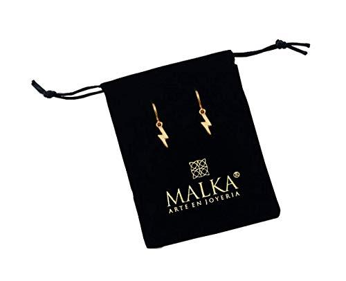 Malka joyería | Aretes/huggies de rayo de chapa de oro de 14K. Hecho a mano en Guadalajara