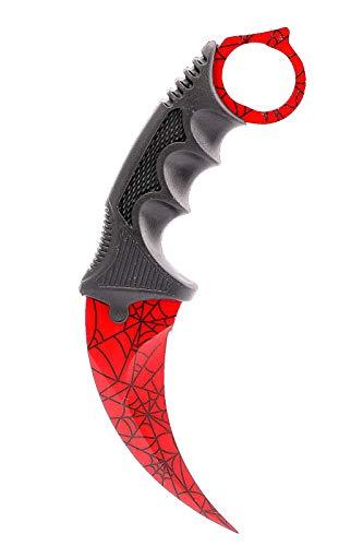 ariknives - Counter Karambit Skin Knife CS GO Streik Messe Jagdmesser taktisches Überlebens Camping Werkzeug (Crimson Web)