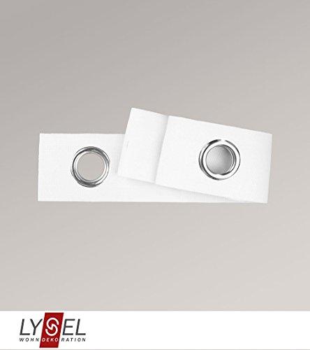 LYSEL Ösenband in weiß H 10cm (1 lfm)