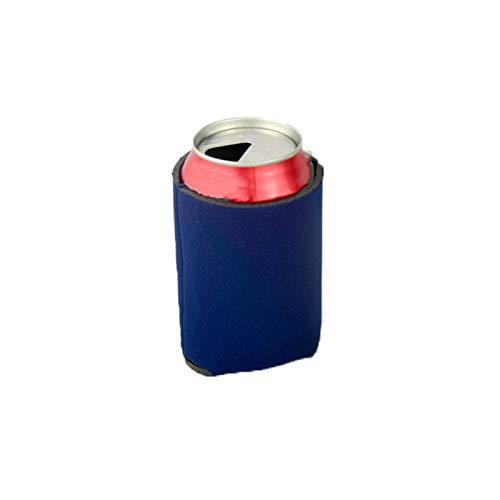 TopHomer Fundas para enfriadores de cerveza de neopreno, para refrescos, aislantes plegables, perfectas para barbacoas, bodas, fiestas, color azul oscuro, 1 unidad