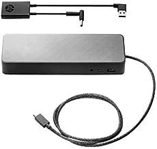 HP 2UF95UT#ABA Universal - Docking Station - 2 x DP - for Elite X2, Elitebook 1030 G1, 1040 G3 and More - Black