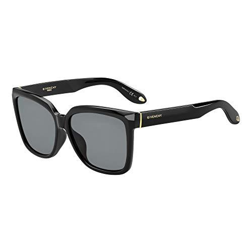 Givenchy Damen GV 7021/F/S E5 D28 Sonnenbrille, Schwarz (Shiny Black/Grey), 57