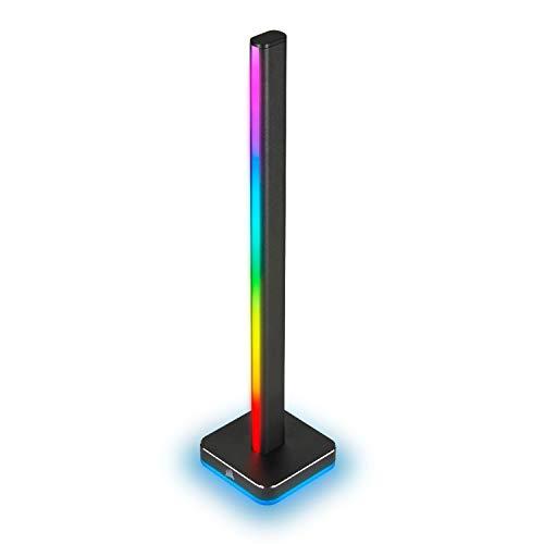 Corsair iCUE LT100 Kit de Expansión de Torre de Iluminación Inteligente, Uno Torres 422 mm de Alto con 46 LED Personalizables, Difusor de Luz Integrado, Soporte Extraíble para Auriculares, Negro