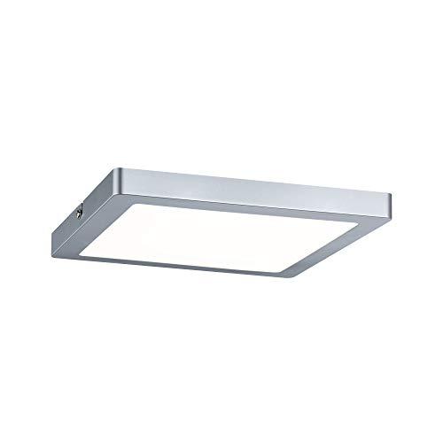Paulmann 70866 Aufbaupanel LED Atria eckig Deckenleuchte 20W Licht 2700K Warmweiß LED Panel Chrom matt dimmbar für Wand- und Deckenmontage