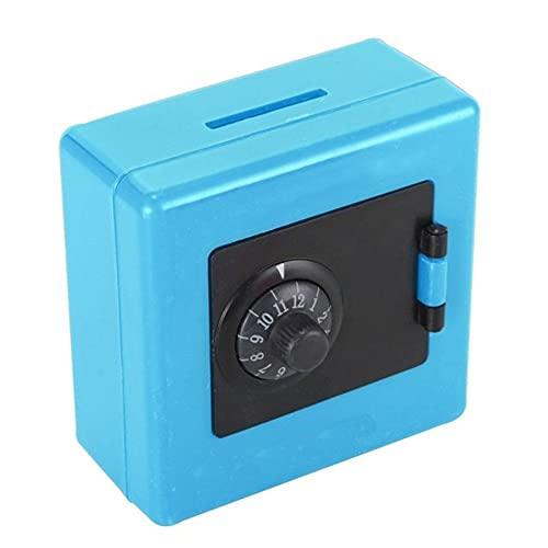 yaunli Hucha de fundición Moneda Dinero Ahorro Caja de Almacenamiento Caja Caja Fuerte Hucha niños Dinero Cajas Hucha de la Moneda de Ahorro (Color : Azul, Size : One Size)