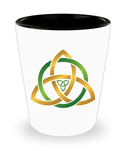 Triquetra Shot Glass Celtic Trinity Irish Love Knot Gift