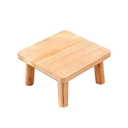 Mesa de Centro Mesa Auxiliar Mesa de centro compacta de la cama de madera natural de la bandeja de la cama pequeña mesa de centro pequeña (marrón) Mesa de Café ( Color : Natural , Size : M )