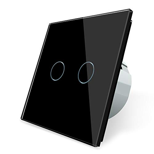 LIVOLO UE estándar con pantalla táctil interruptor de luz con pantalla LED de lujo cristal interruptor de cristal,VL-C702R-12-A