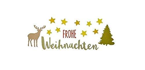 Sizzix Thinlits Stanzschablonen-Set 5 STK. -Frohe Weihnachten, Stahl, Mehrfarbig, 23.3 x 7 x 0.2 cm