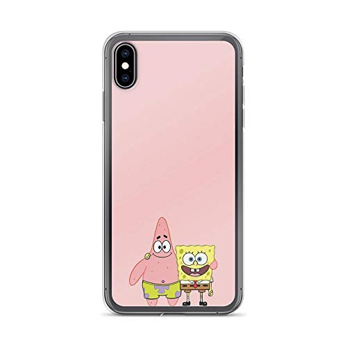 Gryss Compatible with iPhone XR Case Spongebob and Patrick Star Best Friends American Animated Series Pure Clear Phone Cases Cover
