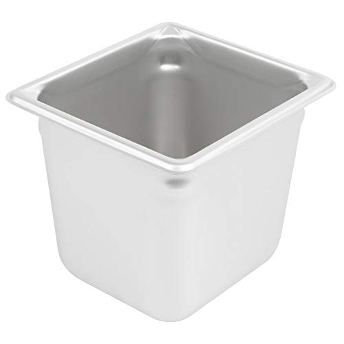 Great Price! Restaurant Equipment Sixth 1/6th Size Stainless Steel Food Pan 6 Deep