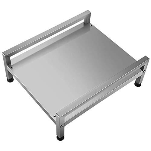 L-WSWS Estante de la cocina de microondas horno de carro Lixin cocina organizador del almacenaje de cocina de inducción Condimento de almacenamiento en rack portátil de acero inoxidable 304 (color: Pl