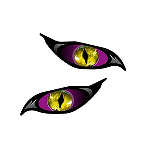 ZCZWQ 13 cm x 5,6cm Divertido púrpura Malvado calcomanía de la calcomanía del Coche JDM Impermeable Puerta de parachoque y Etiqueta de la Ventana (Color : Style A)
